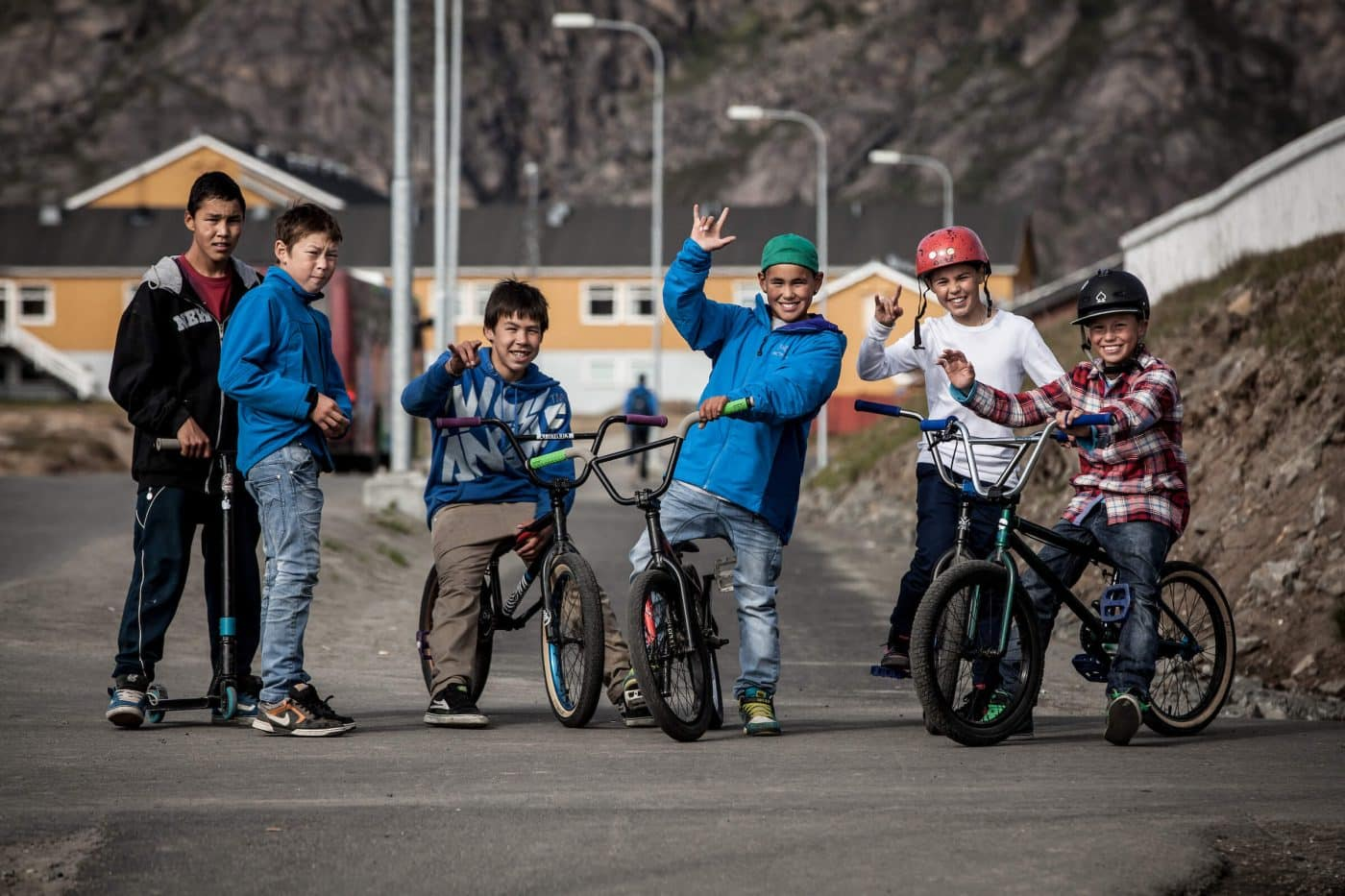 Boys in the streets of Sisimiut in Greenland. By Mads Pihl
