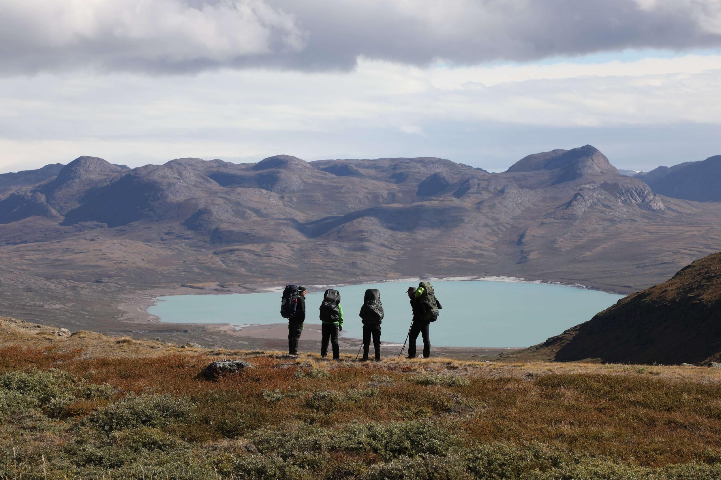 Hikers in Aasivissuit UNESCO area close to Kangerlussuaq Photo by Morten Christensen