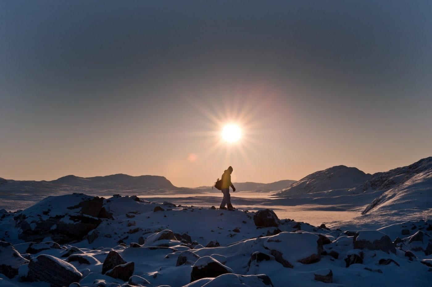 Hiking near Kangerlussuaq. Photo by Humbert Entress - Visit Greenland