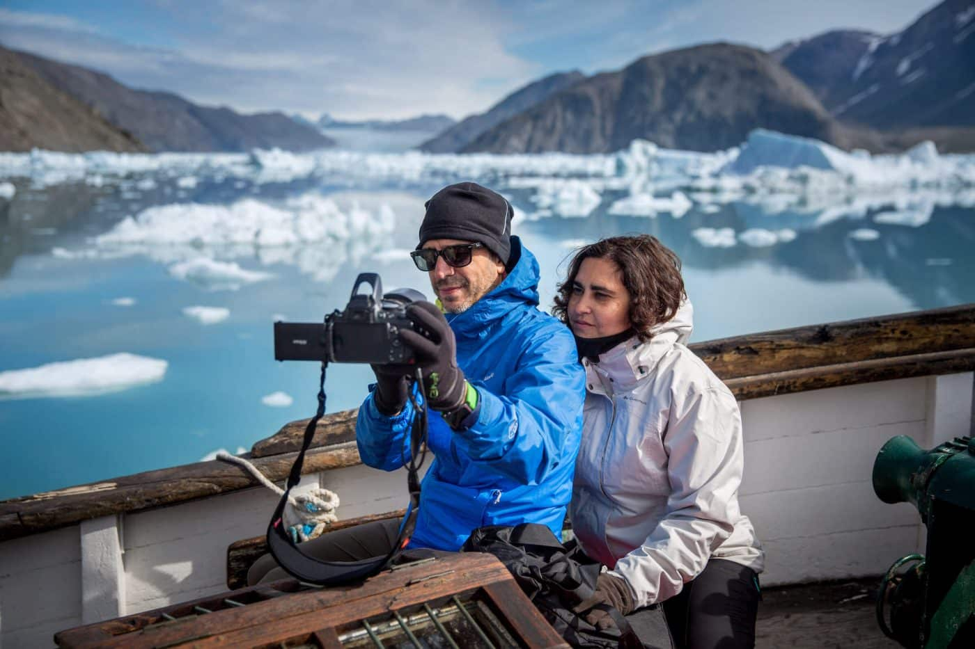 Modern selfie culture meets ancient glacial ice in Narsarsuaq, South Greenland. Photo by Mads Pihl