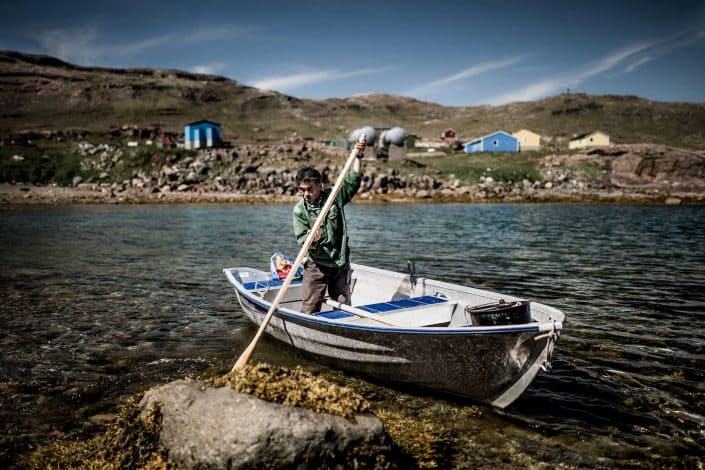 A local fisherman from Igaliku on South Greenland. Photo by Mads Pihl.