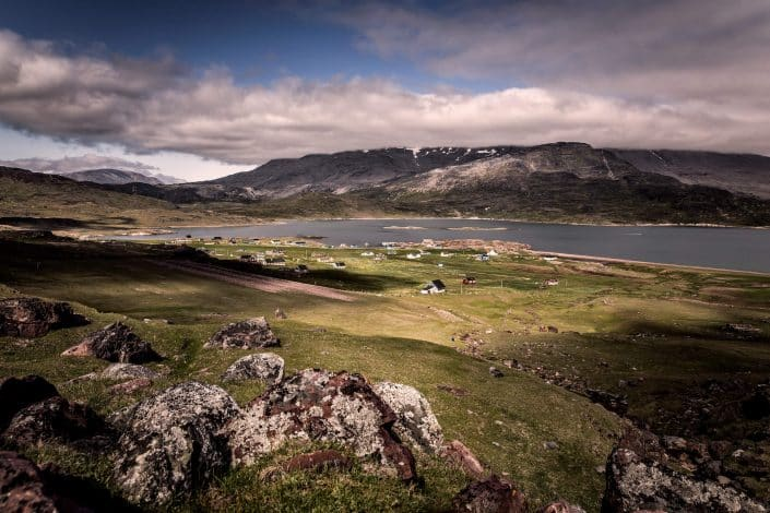 A view over the small community Igaliku in South Greenland. Photo by Mads Pihl.