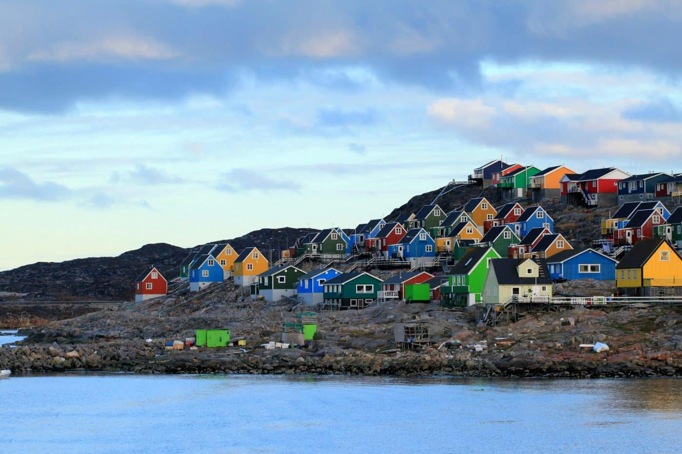 Colourful houses in Aasiaat. Photo by Magssannguaq Qujaukitsoq.