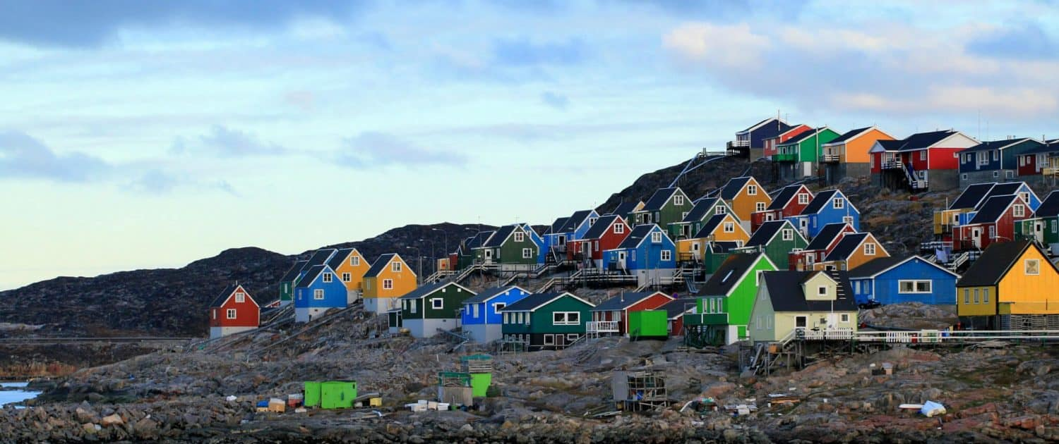 Houses in Aasiaat. Photo by Magssannguaq Qujaukitsoq.
