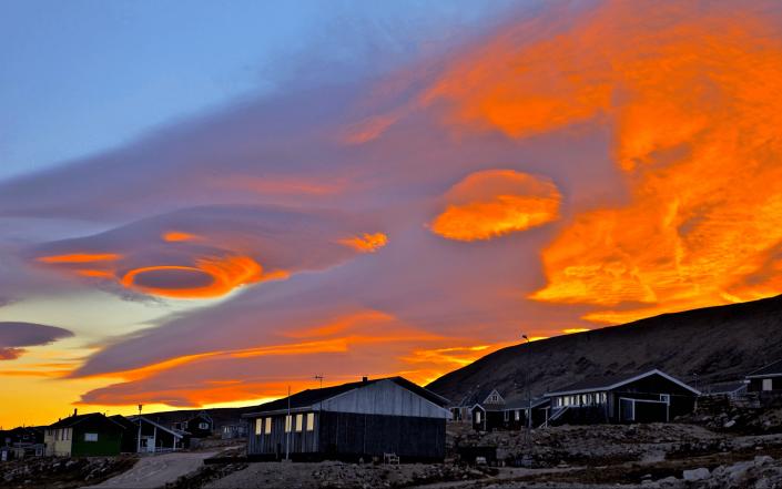 Amazing clouds in Qaanaaq. Photo by Magssannguaq Qujaukitsoq.