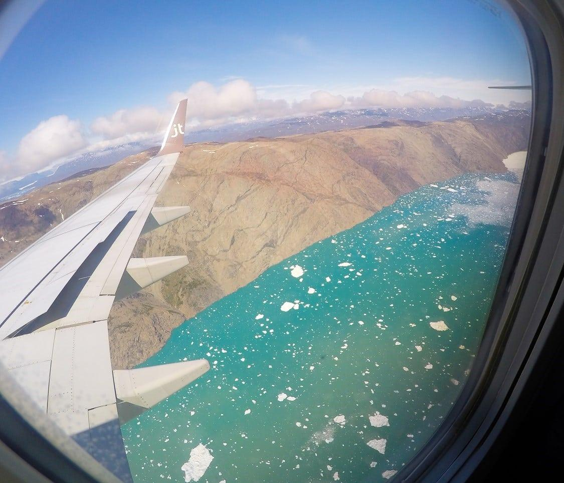 First view of Greenland. By Visit Greenland