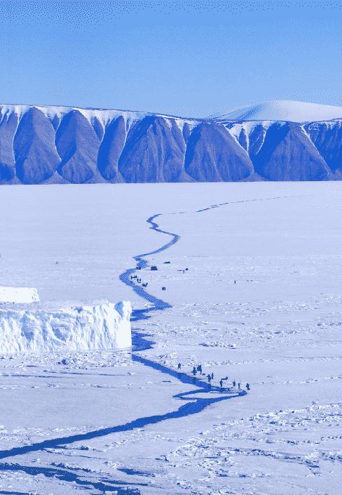 Qaanaaq, fishing at the crack. Photo by Magssannguaq Qujaukitsoq.