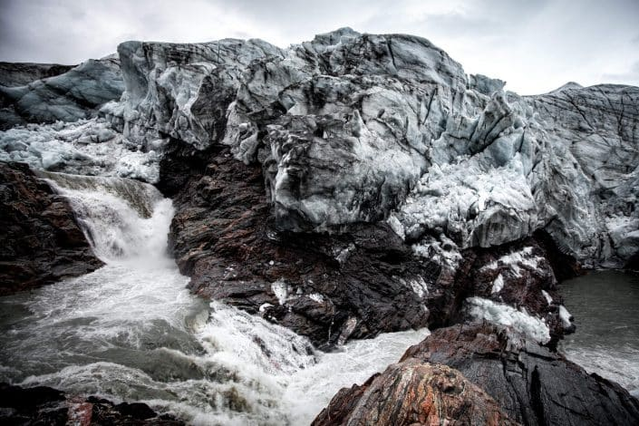 The meltwater river by Russell Glacier near Kangerlussuaq in Greenland. By Mads Pihl