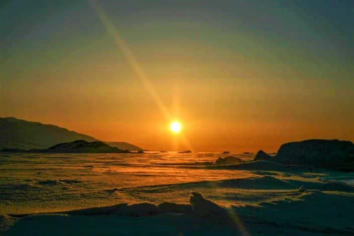 Solnedgang Uummannaq Fjord Tours