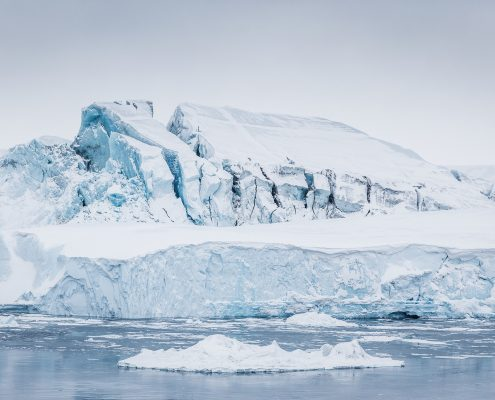 Massive iceberg grounded at the mouth of Ilulissat Icefjord. Photo by Samuel Letecheur