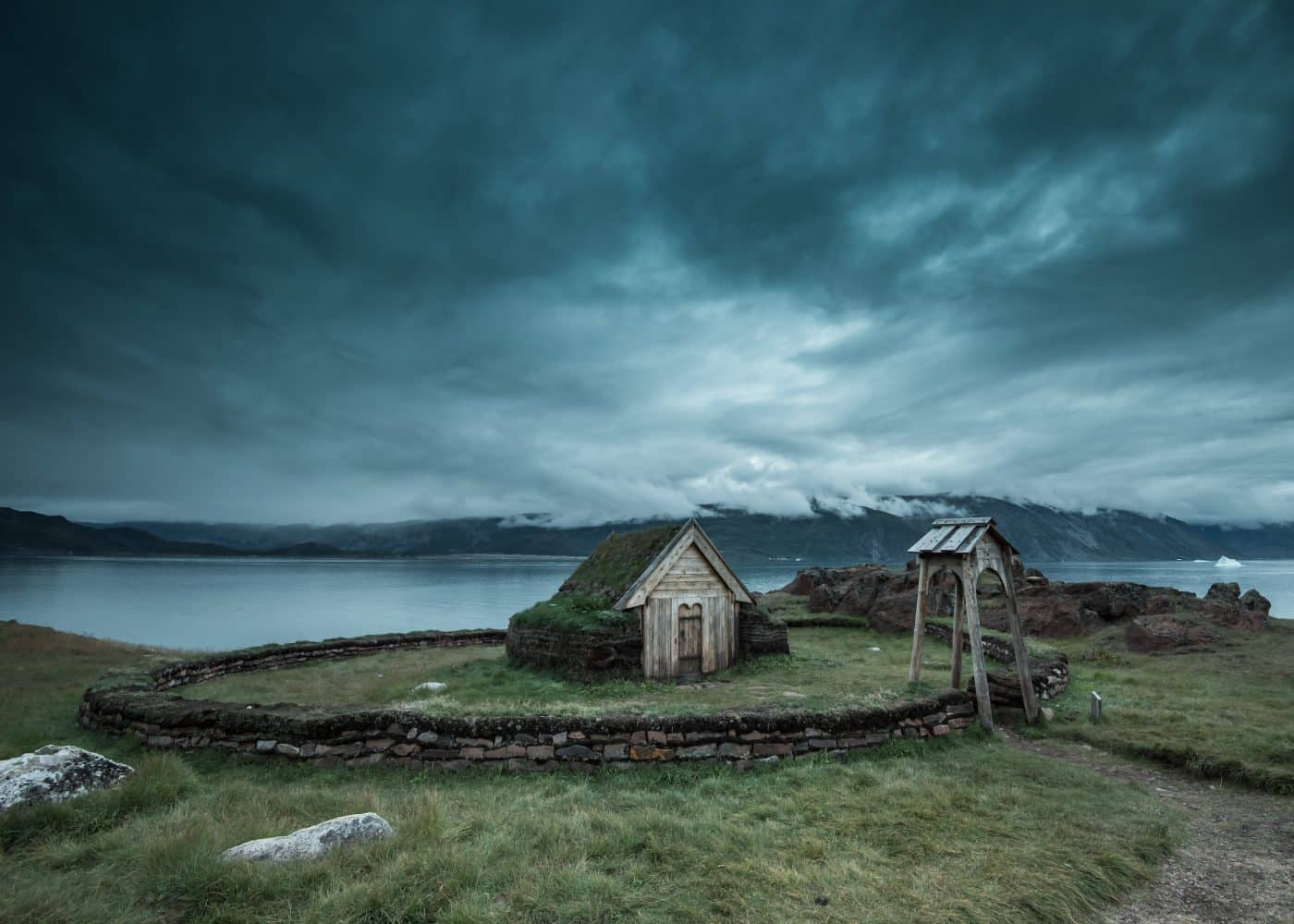 The renovated Norse ruins at Qassiarsuk in South Greenland. Photo by Stacy William Head