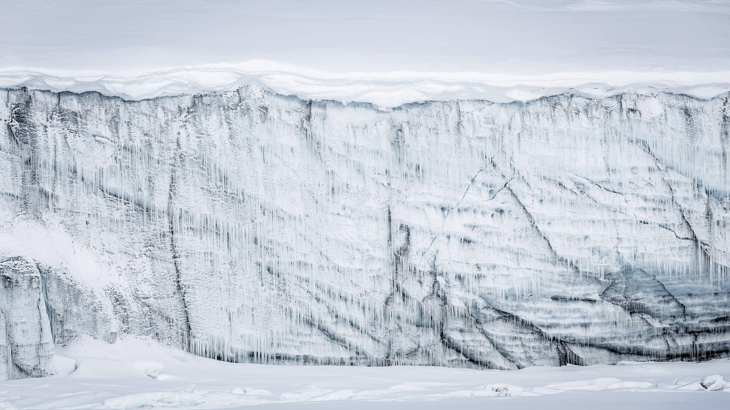 Even an iceberg itself can grow icesicles