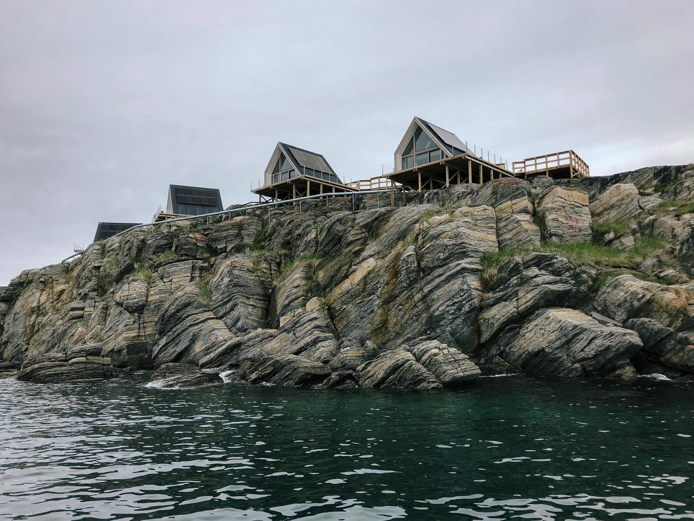 Details of the Iliminaq Lodges along the shoreline. Photo by Jessie Brinkman Evans