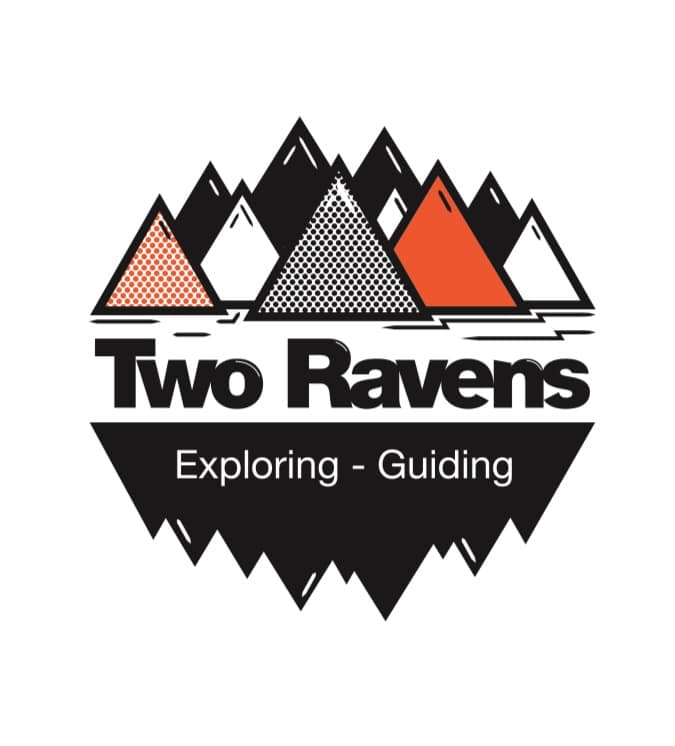 Two ravens logo with white background. Visit Greenland