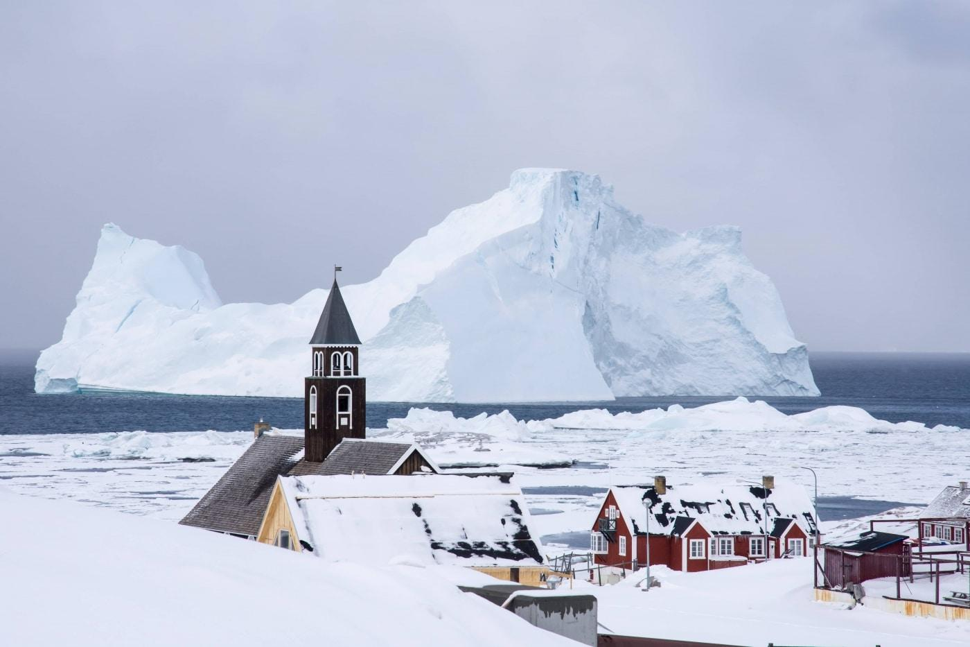 Zions church in Ilulissat. Photo by Inesa Matuliauskaite, Visit Greenland