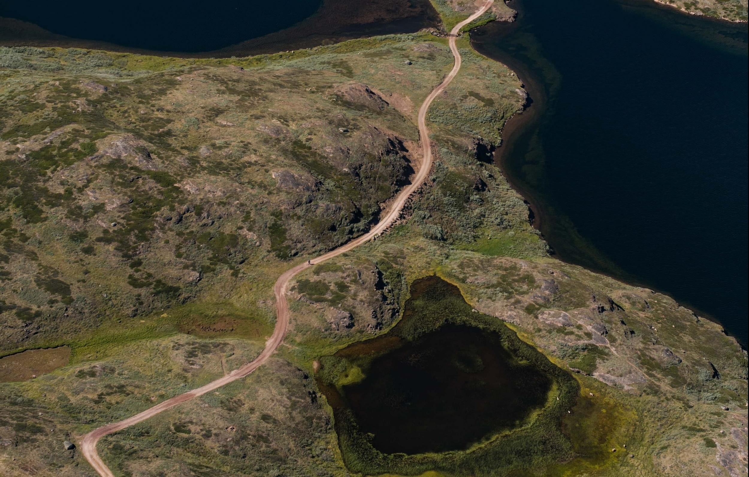 Road to Tasiusaq from Qassiarsuk. Photo by Aningaaq R Carlsen