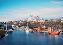 Nuuk harbour, seen from west. Photo by Filip Gielda - Visit Greenland