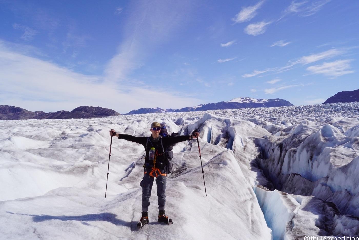 Thule Expeditions – Gletsjer vandretur mellem store fjelde