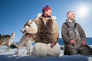 Dogsledding in Kangerlussuaq with Johanne & Henning in the fjord. Photo by Anders Beier - Visit Greenland