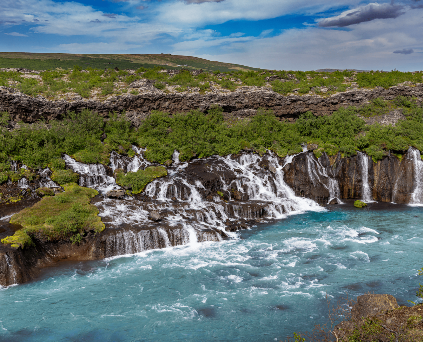 Hraunfossar. Photo by Visit Iceland