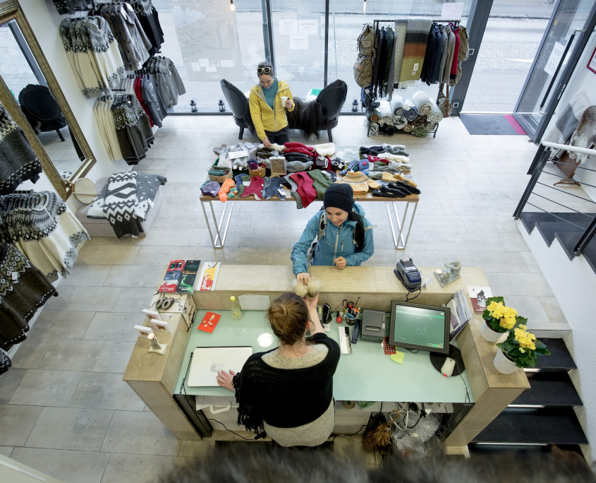 The shop at the Greenland Centre in Reykjavik-min