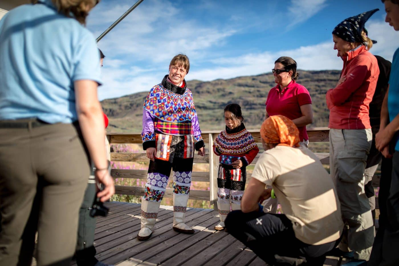 A presentation of the national costume at Tasiusaq sheep farm in South Greenland, by Mads Pihl
