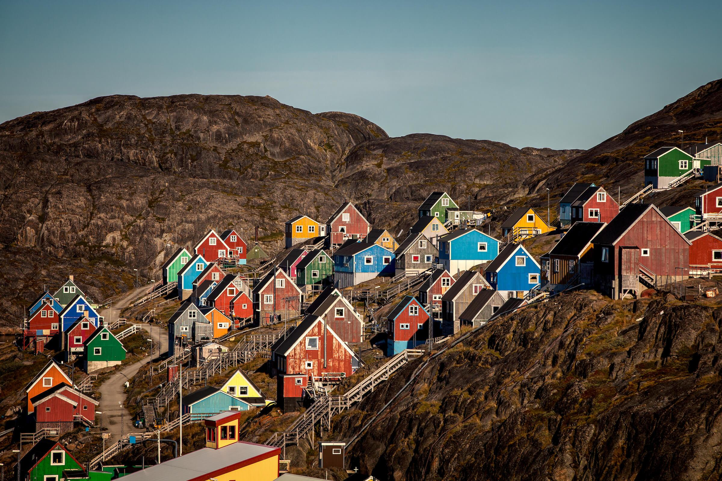 A typical view of Kangaamiut - a village in Greenland