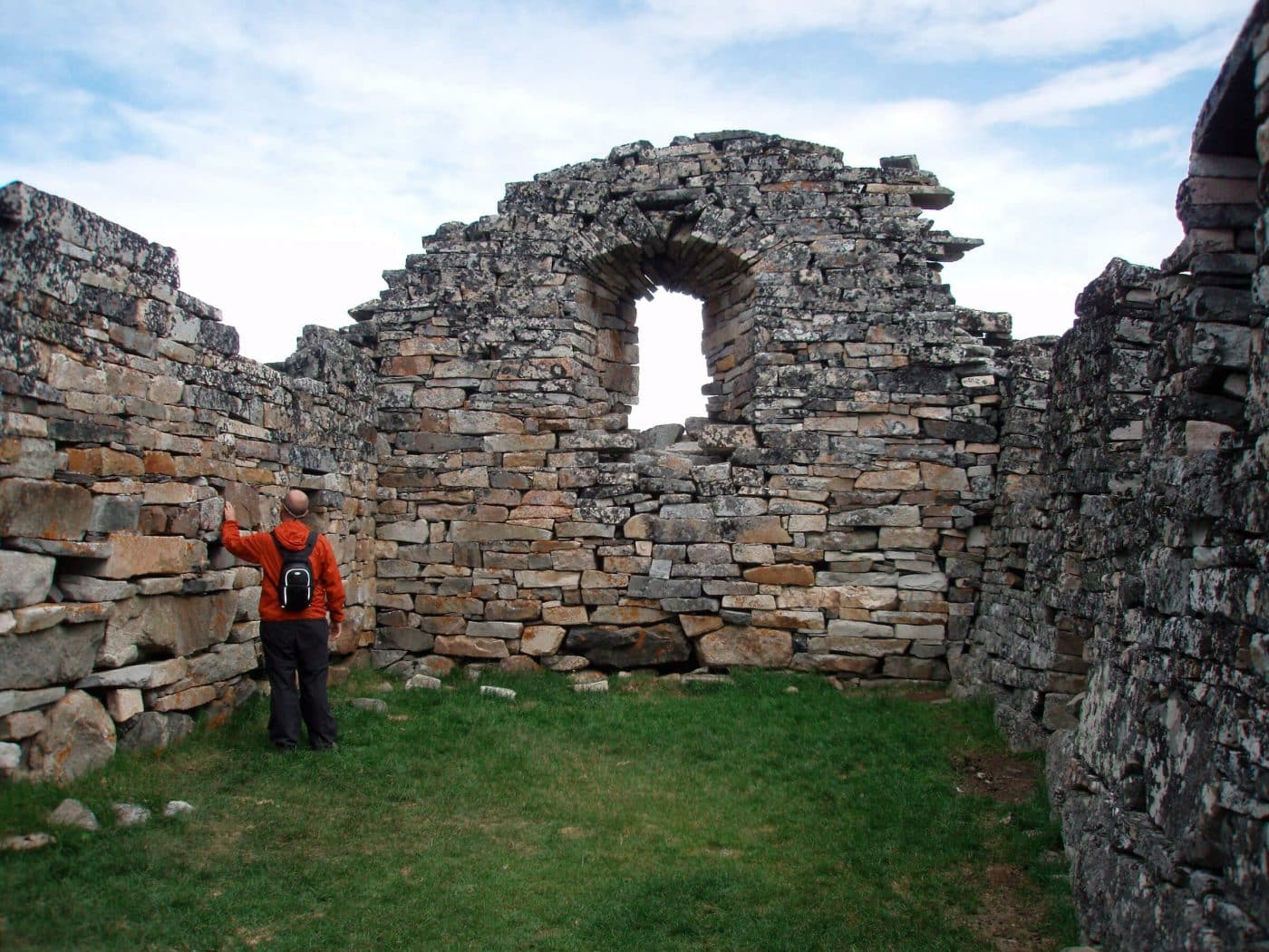A view inside the Hvalsey church ruin in South Greenland. By Ella Groedem