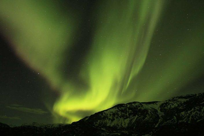 Northern Lights. Photo by Blue Ice Explorer, Visit Greenland.