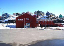 Hotel Heilmann Lyberth frontside in Maniitsoq, Greenland. Photo by Hotel Heilmann Lyberth - Visit Greenland