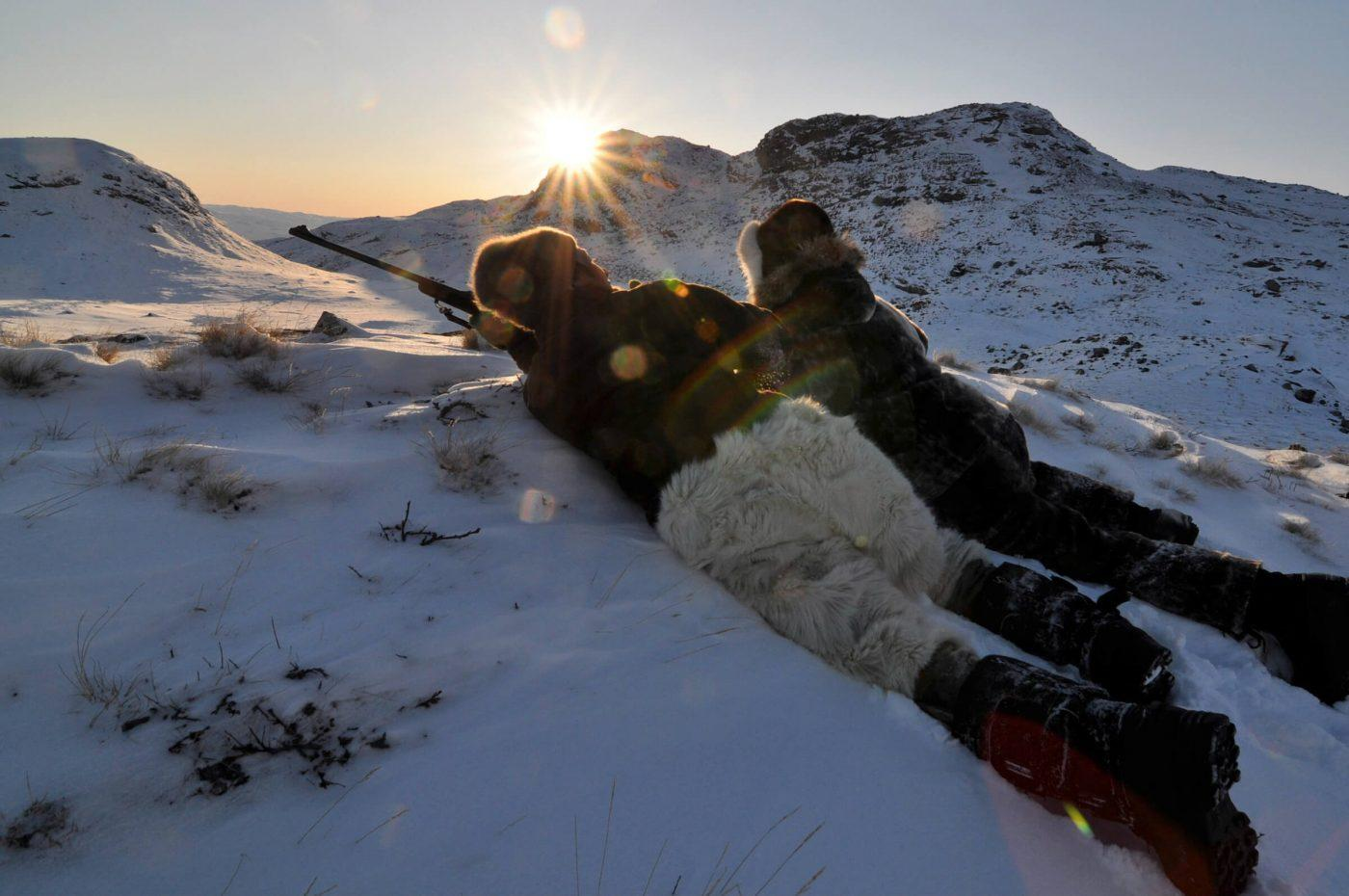 Johanne Bech hunting for musk oxen near Kangerlussuaq in Greenland. Photo by Mads Pihl