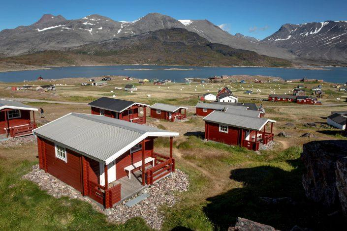 The Blue Ice hut accommodation in Igaliku in South Greenland