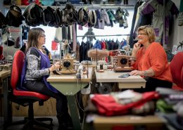 Inside the Mersortarfik sewing workshop in Ilulissat in Greenland
