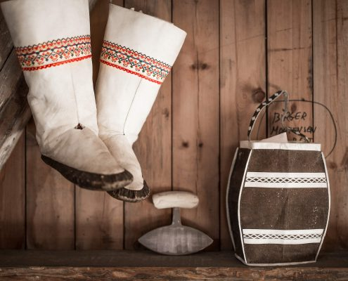 Kamiks, an Ulo and other souvenirs in Narsaq in South Greenland