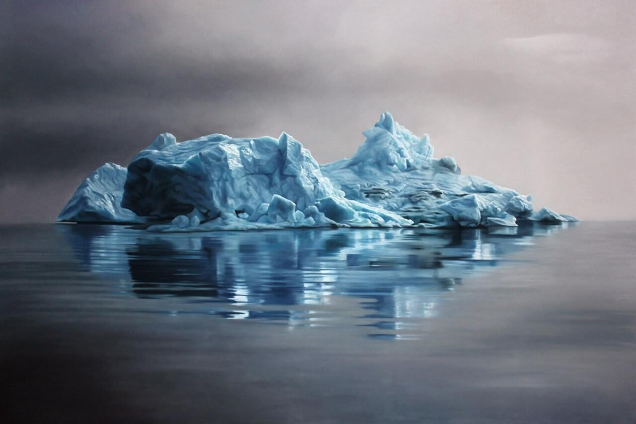 """Greenland No.62, 47""""x70"""", soft pastel on paper, 2013 (sold), Photo: courtesy of Zaria Forman"""