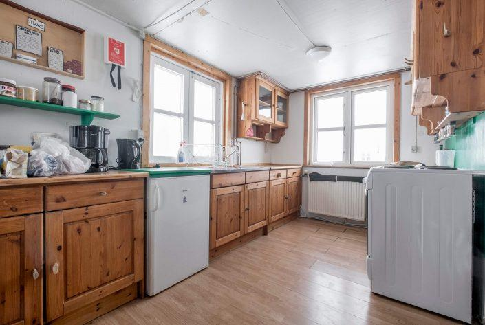 Kitchen in Kulusuk Hostel. Photo by Icelandic Mountain Guides