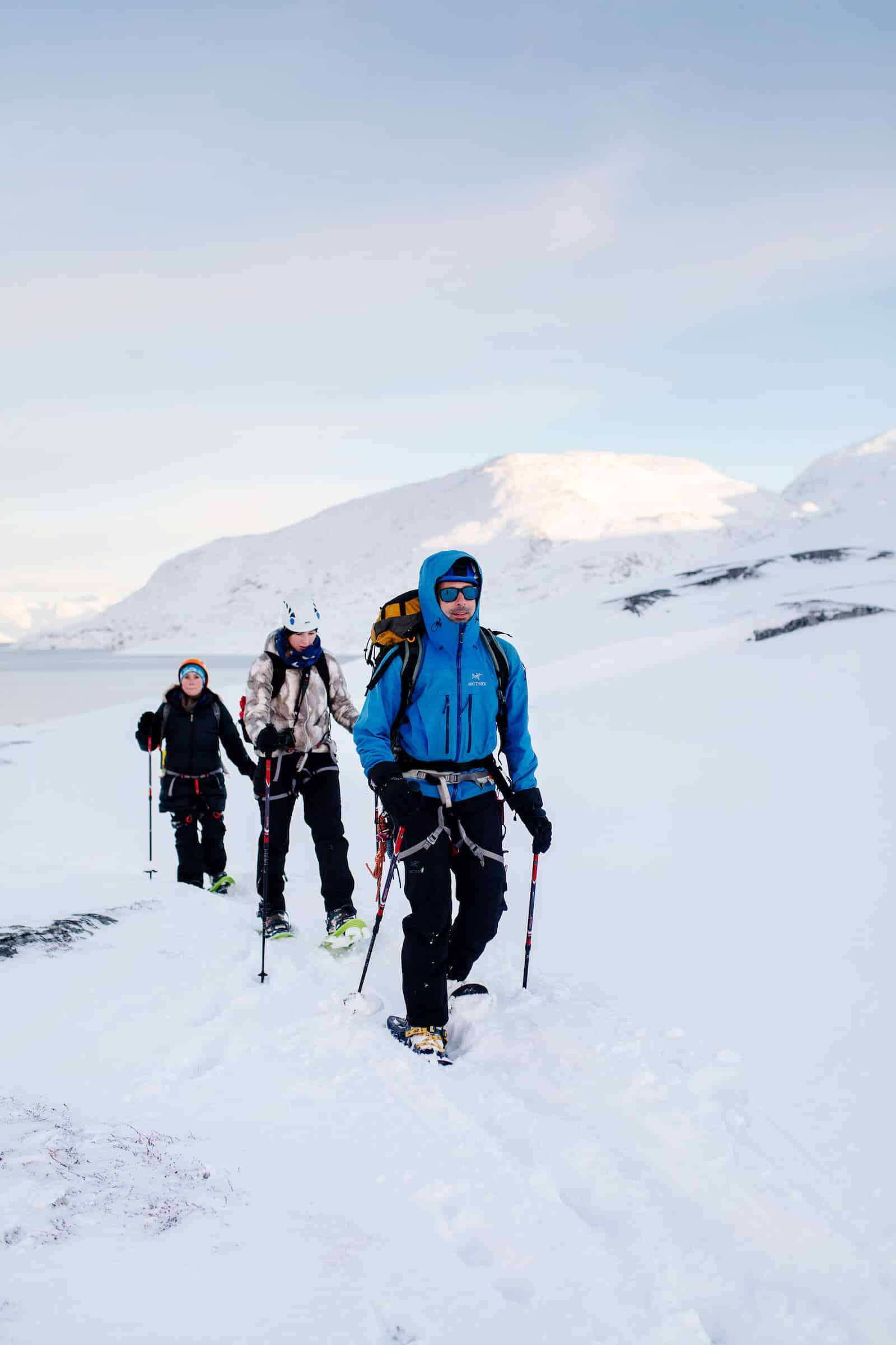 Marc Carreras with tourists on back country tour in Nuuk in Greenland. By Rebecca Gustafsson