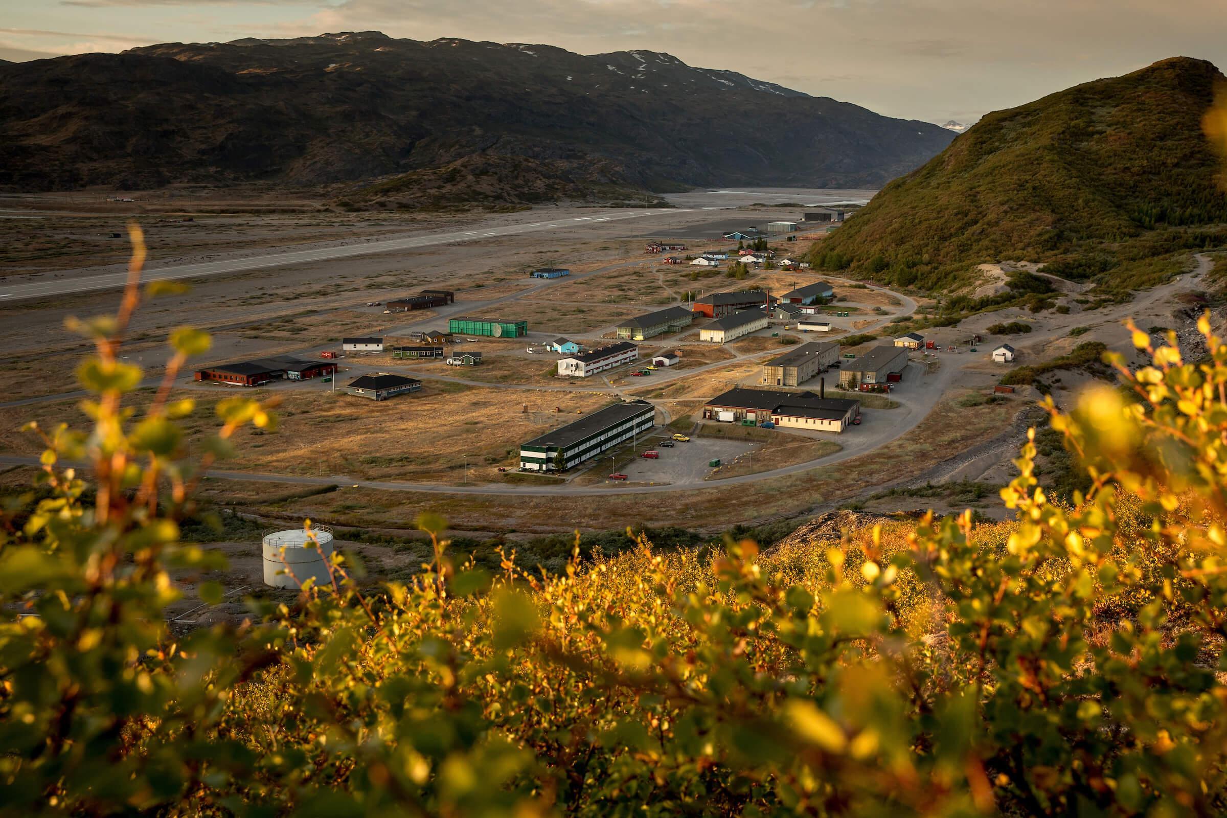 Narsarsuaq in South Greenland at sunset. Photo by Mads Pihl - Visit Greenland