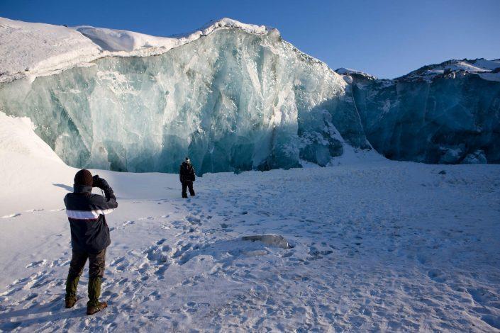 Ice wall near Kangerlussuaq. Photo by Per Arnesen