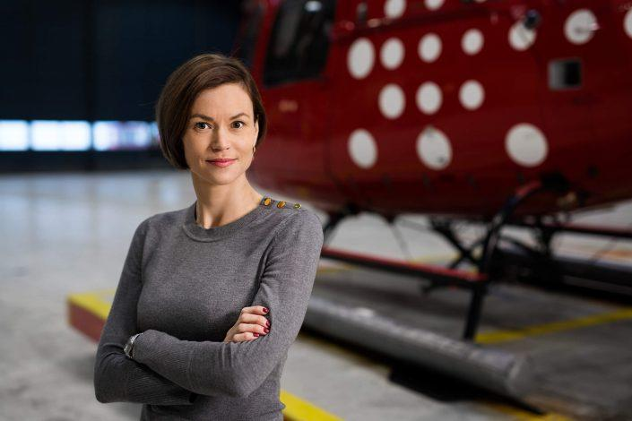 Portrait of the greenlandic chief commercial officer of Air Greenland Maliina Abelsen. Photo by Rebecca Gustafsson