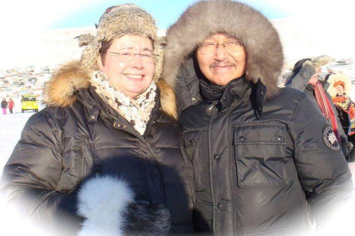 Owners of Qaanaaq Accommodation, K'itdlaq and Kista. Photo by Qaanaaq Accommodation