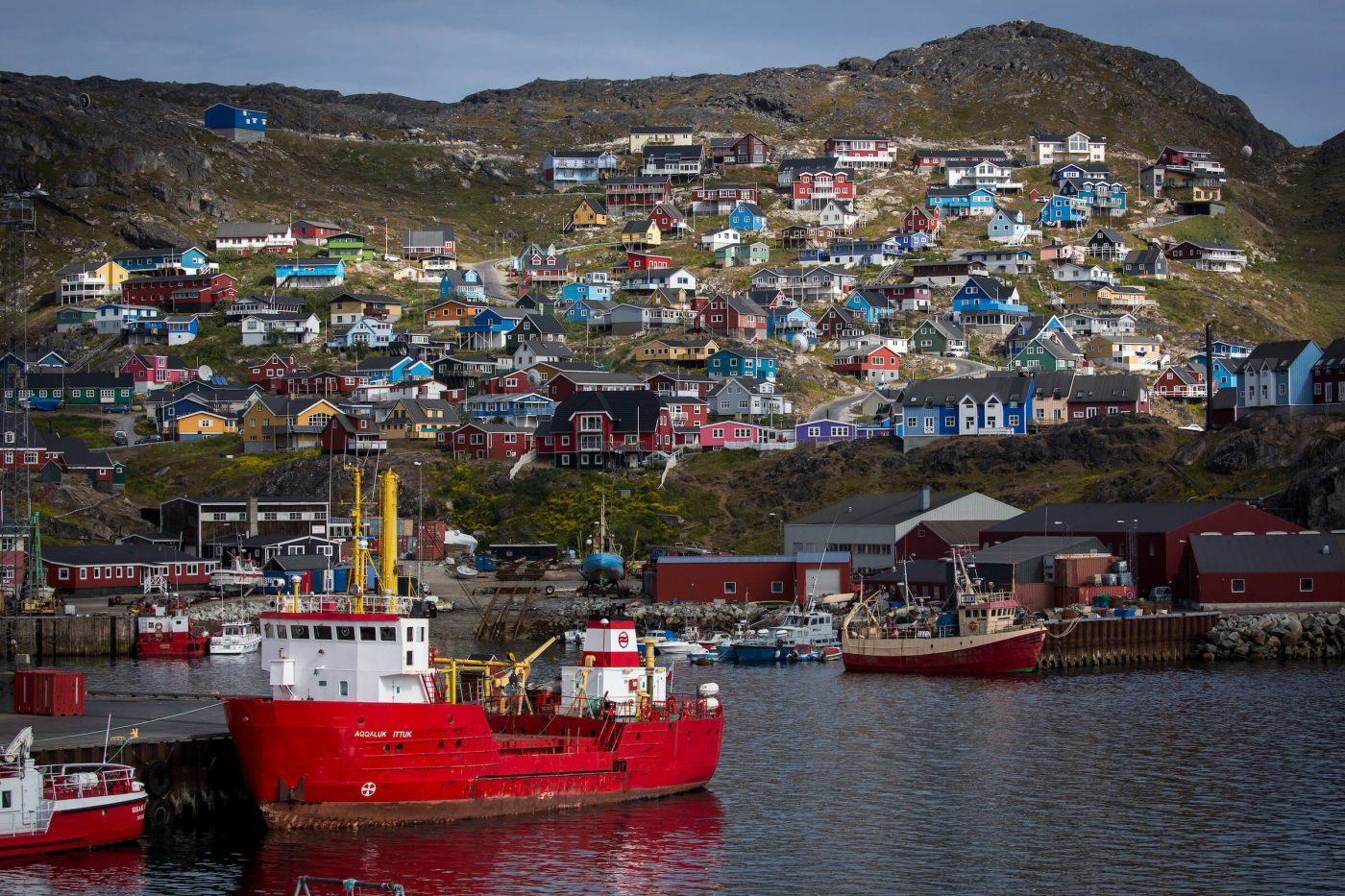 Qaqortoq is South Greenlands largest town and is built around a natural harbour shaped like a big amphitheatre