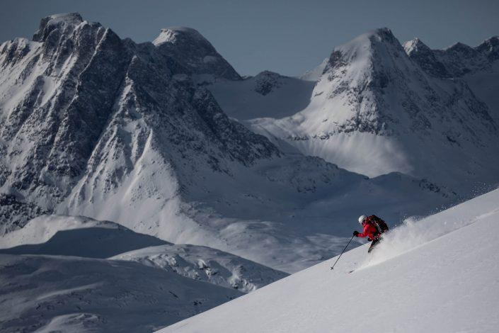 Ski touring among remote peaks in East Greenland. By Mads Pihl