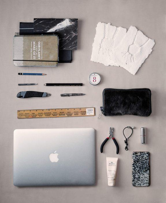 The everyday items of Lisbeth Karline Poulsen, a greenlandic artist and chairman of Kimik. Photo by Rebecca Gustafsson