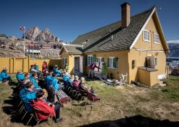 A presentation for MS Fram guests at the Uummannaq museum in Greenland