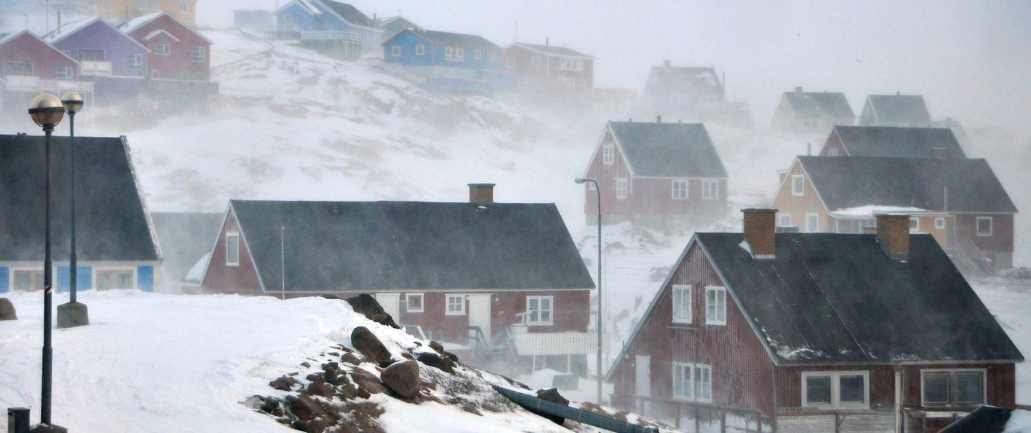 Snowy and Windy Weather in Sisimiut. By Mads Pihl