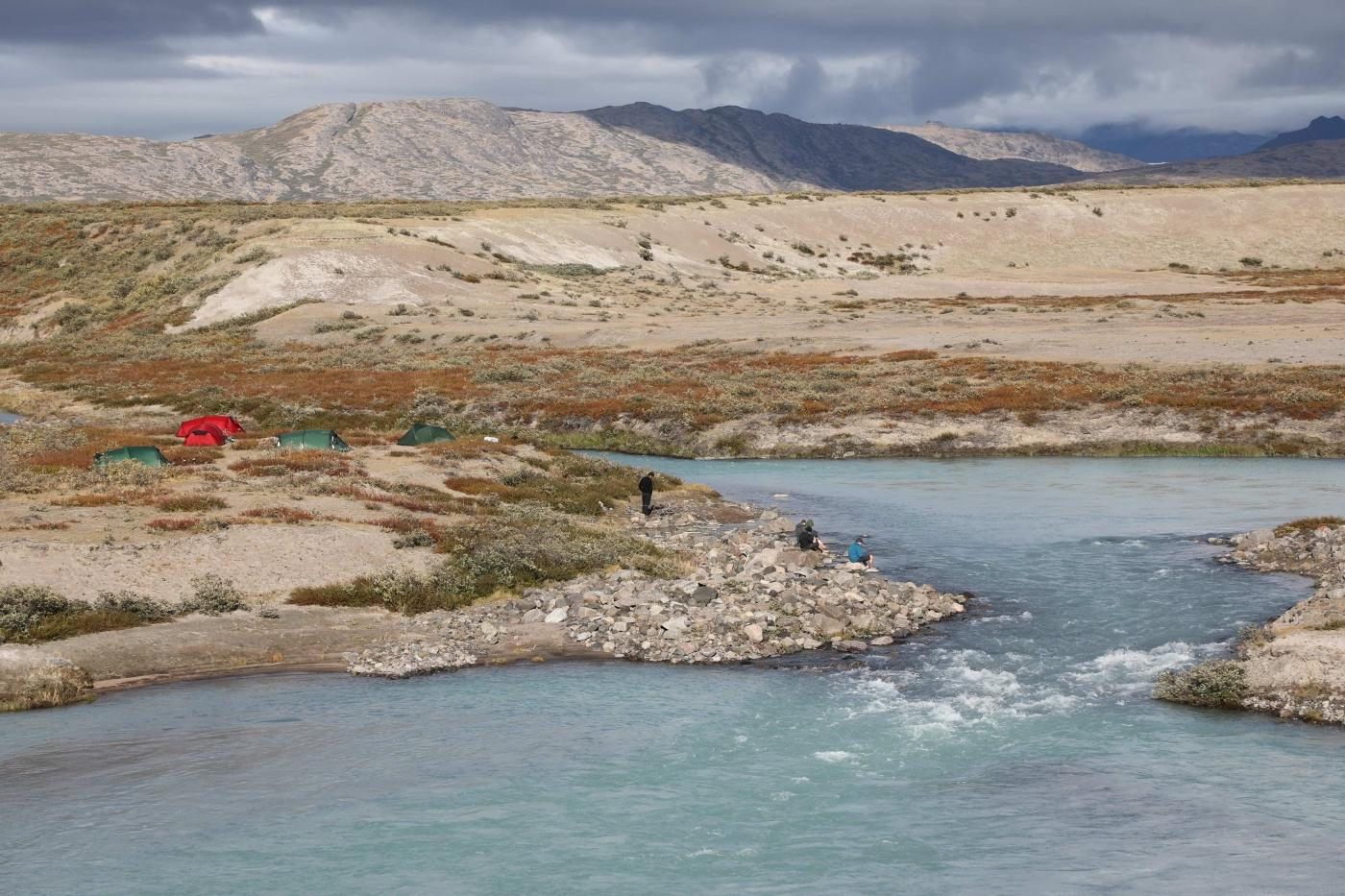 Greenland Outdoors campsite close to river in summer. Photo by Morten Christensen