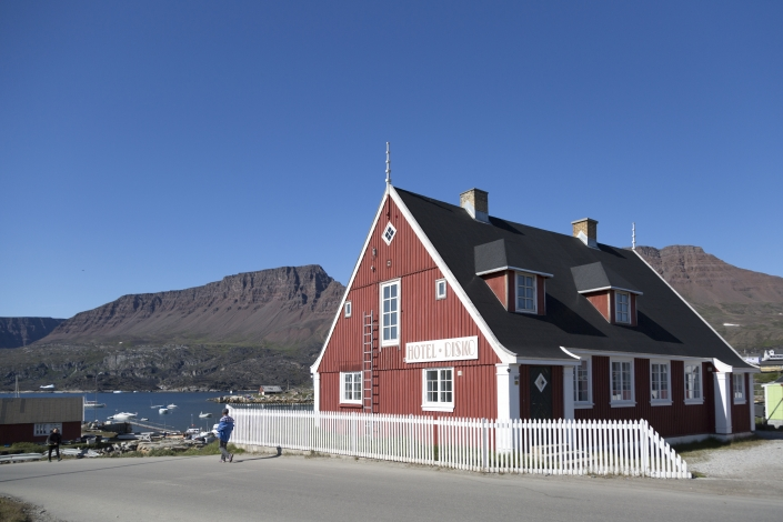 Hotel Disko Island in summer