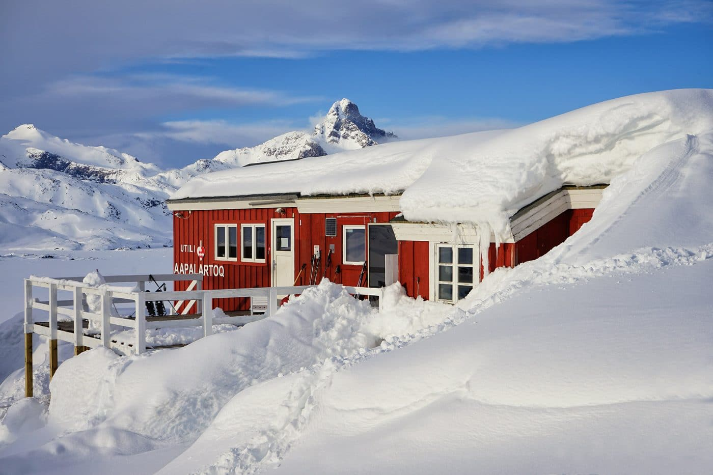 The Red House, East Greenland. Photo by Ulrike Fischer
