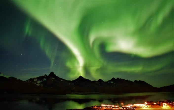 Northern Lights in East Greenland. Photo by Tasiilaq Tours - Visit Greenland